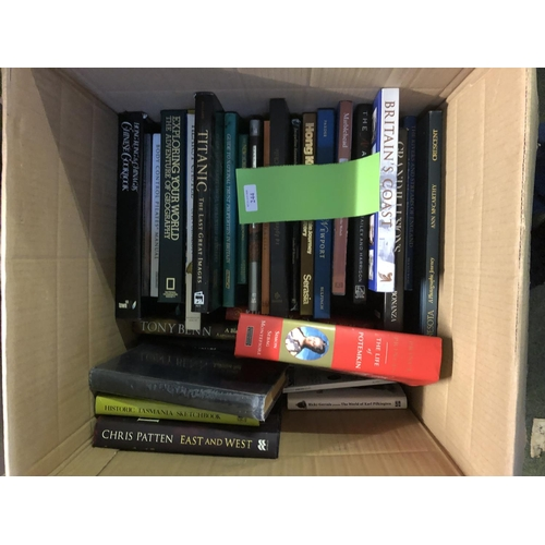 36 - Boxes of coffee table books, novels & reference books...