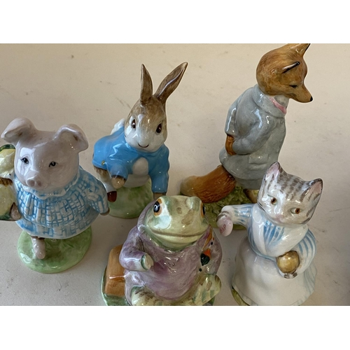 10 - Qty of decorative china to include blue & white and Beatrix Potter figurines, see images.  condition...