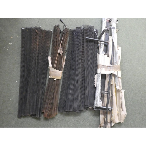 22 - Qty of fireplace metal curtains and rails...