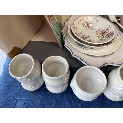27 - Qty of good quality decorative items and kitchen ware including Pilivite  (French Porcelain) tureens...