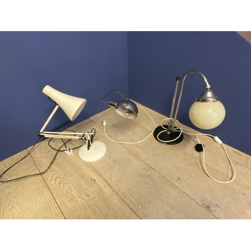 45 - 3 vintage Angle Poise desk lamps CONDITION: general wear...