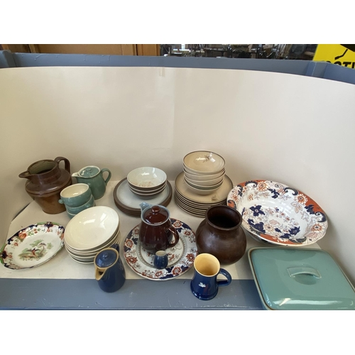52 - Qty of china and stone wear to include Denby Greystone, Mason Ironstone etc....