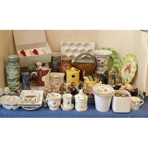 6 - Quantity of modern china and kitchenalia, chicken and duck items,  Princess Royal bone china,...