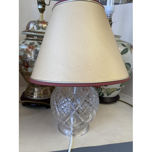 61 - Qty of decorative lamps & shades...