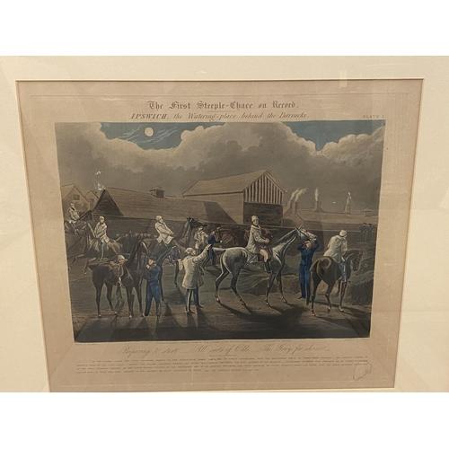 23 - Set of 4 framed and glazed coloured prints,