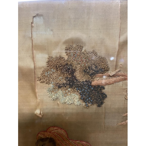 24 - A quantity of various prints and portraits, and old Crewel work pictures Condition - restoration nee...