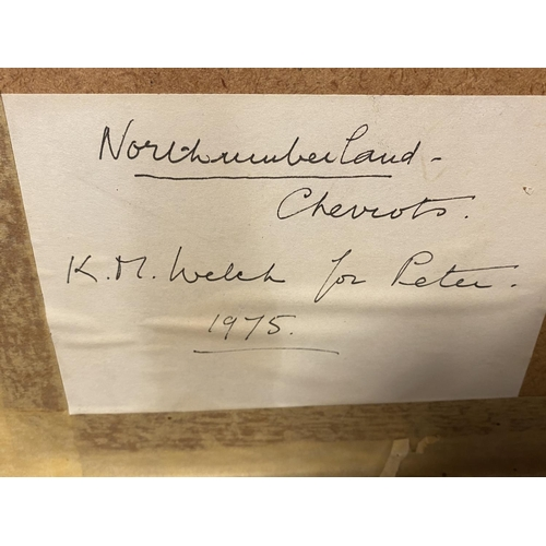 28 - Quantity of pictures to include a watercolour of Northumberland  K M Welch...