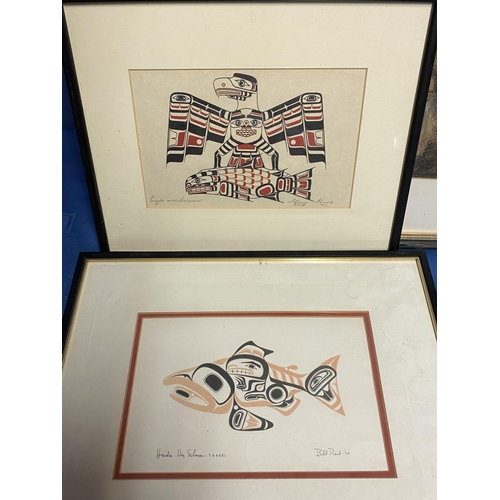 50 - Qty  of framed and glazed pictures including the Map of Thames, 5 unframed bird studies by John Goul...