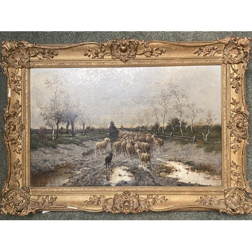 33 - J L GORYOT (?), oil on canvas,