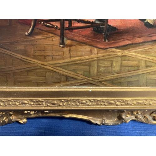 13 - RICHARD COOPER, c1890,  Oil on wood panel, marked verso,