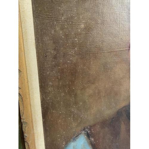 34 - C20th oil on board, labelled verso: artist Dan Schwob,