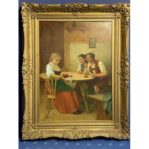 36 - THEODOR KLEEHAAS (1854 - 1929), German School Oil on Canvas,