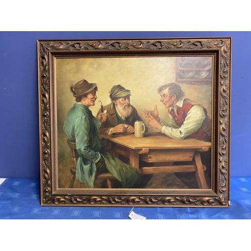 38 - Oil on Canvas, Austrian school, c1950,