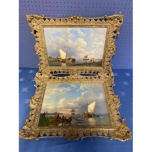 4 - PIETER CORNELIS DOMMERSHUIJZEN (1834-1908) pair of oils on wood panels,
