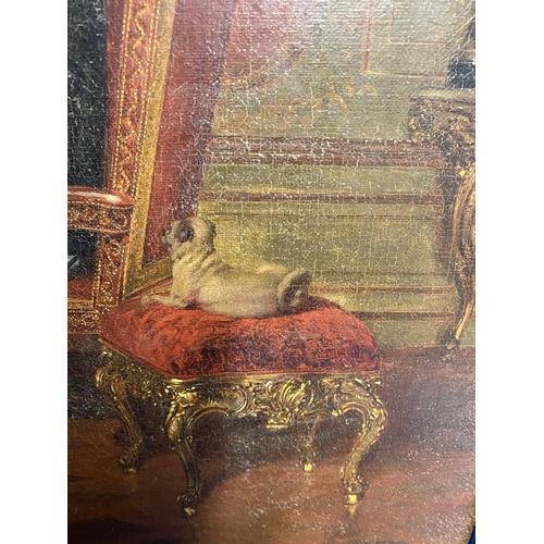 41 - ALEXANDER  FRIEDRICH WERNER (1827-1908), Oil on canvas,