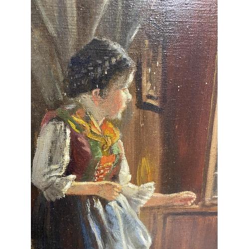 43 - FRANZ BURGER (1857-1940), Austrian school, circa 1920 , Oil on canvas,