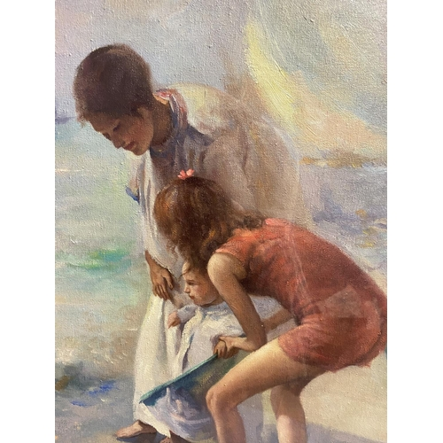 45 - Attributed to Theodore Robinson, Oil on canvas,