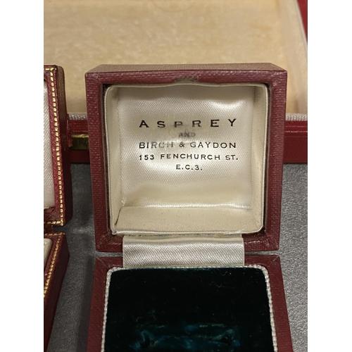 37 - Three jewellery boxes, 2 Cartier, 1 Asprey