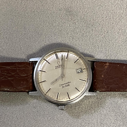 4 - Gents automatic Omega Seamaster De Ville, 42mm stainless steel case wrist watch, date aperture at 3