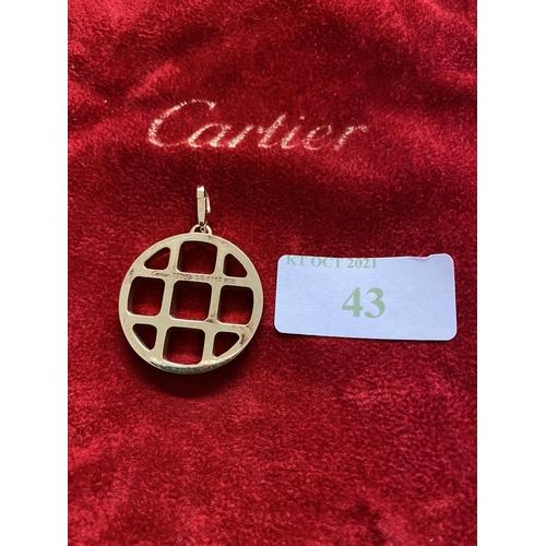 43 - A Cartier pendant, marked Cartier 750/18ct, 20 grams