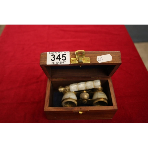 345 - SET OF BOXED OPERA GLASSES...