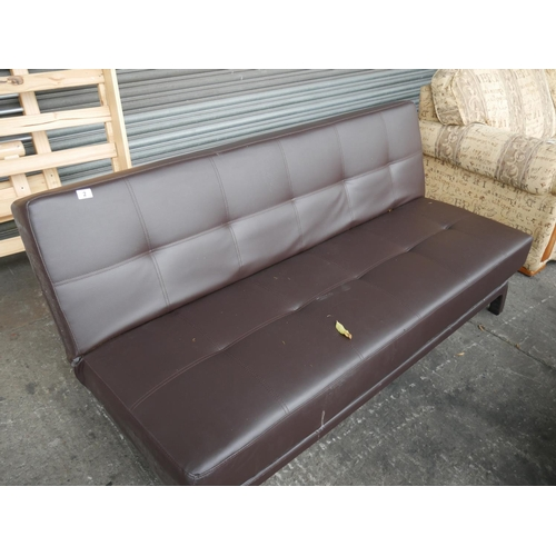 2 - LEATHER FUTON...