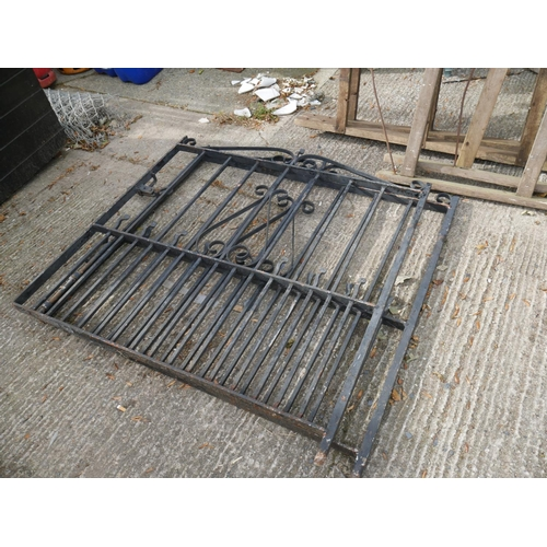 26 - PAIR OF METAL GATES...