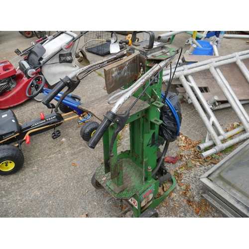 36 - ELECTRIC LOG SPLITTER ( NEEDS NEW SWITCH OTHERWISE WORKING )...