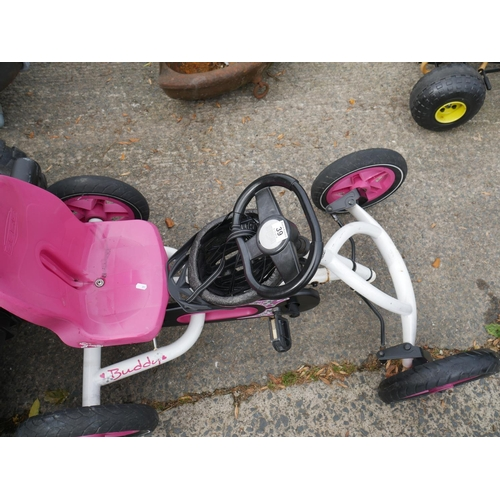 39 - GO-KART PINK WHEELS...