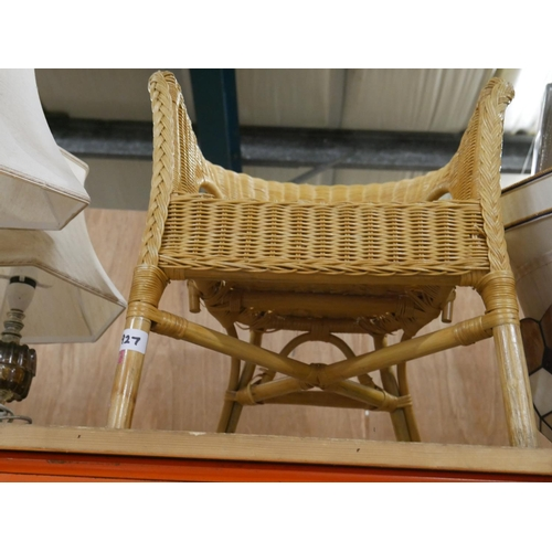 927 - WICKER CHAIR...