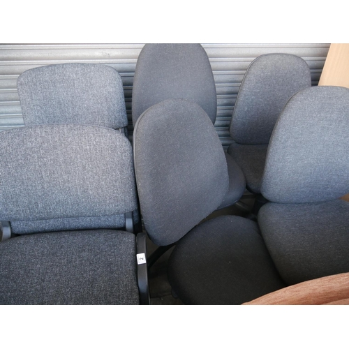 2 - 4 SWIVEL CHAIRS & 6 STACKING CHAIRS...