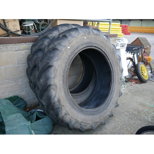 60 - TRACTOR TYRES X 2...