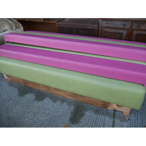 8 - COLOURED SEATING X 2...