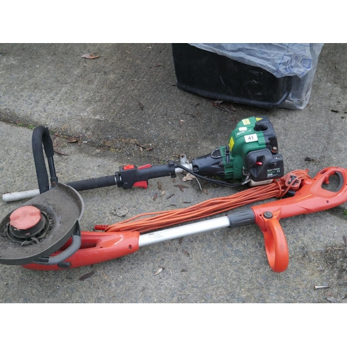 41 - STRIMMER FOR PARTS & ELECTRIC STRIMMER...