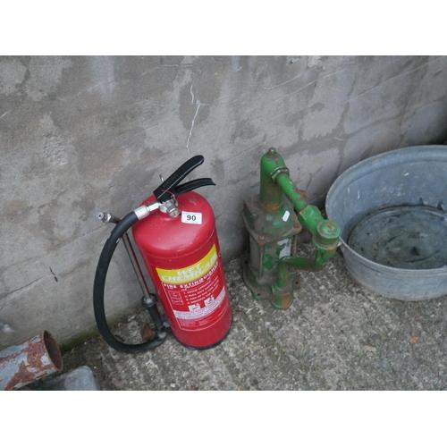 90 - FIRE EXTINGUISHER & GEAR PUMP...