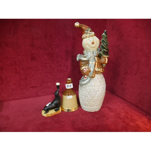 913 - GUINNESS ADVERTISING PIECE PLUS WADE BELL & CHRISTMAS ORNAMENT...