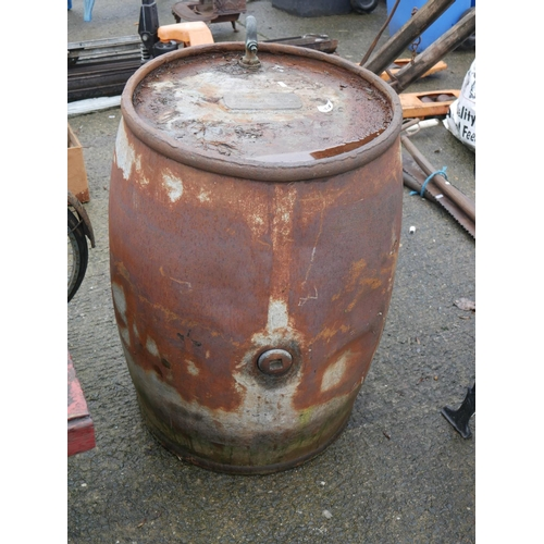 44 - OLD PETROL BARREL...