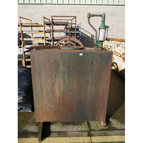 1 - STEEL OIL TANK & CONTENTS...