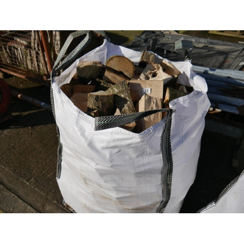 12 - TOTE BAG OF FIREWOOD...