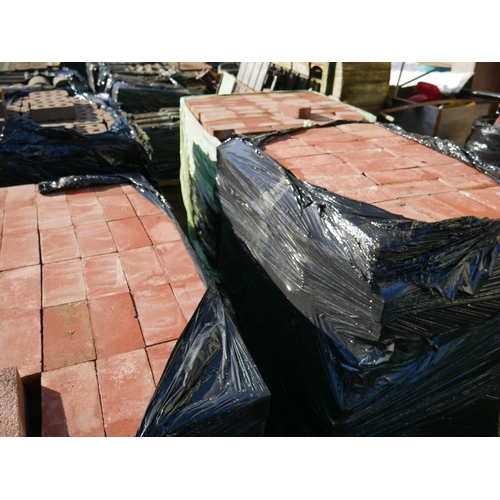 3 - 3 PALLETS OF RED BRICK...