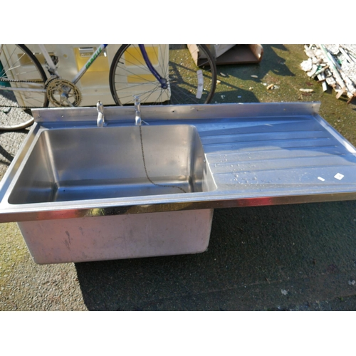 34 - LARGE STAINLESS STEEL SINK...