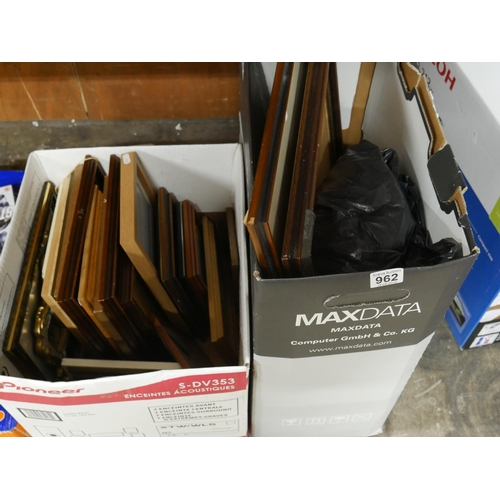 962 - PICTURE FRAMES X 2 BOXES...