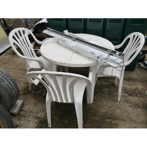 14 - PLASTIC TABLE & CHAIRS...