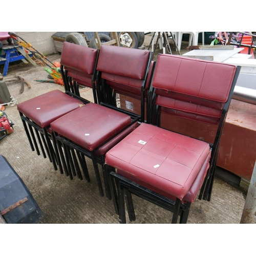 20 - LOT OF STACKING CHAIRS...