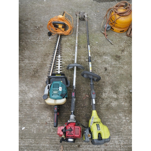 21 - 2 STRIMMERS & 2 HEDGE TRIMMERS...