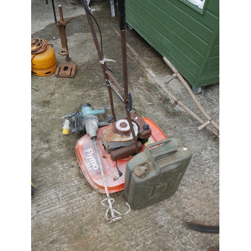 22 - PETROL FLYMO, STRIMMER & JERRY CAN...