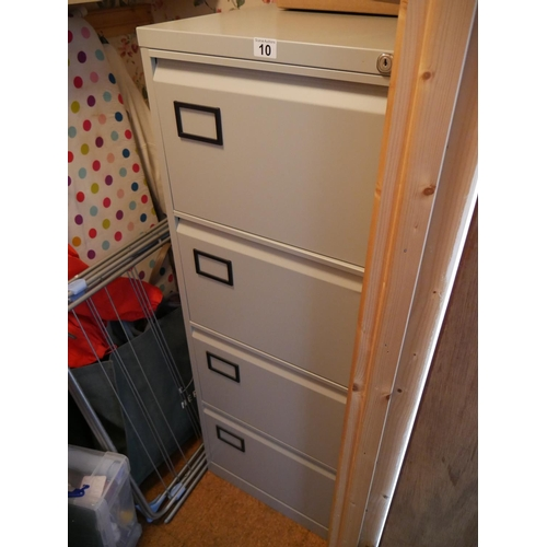 10 - 4 DRAWER FILING CABINET...