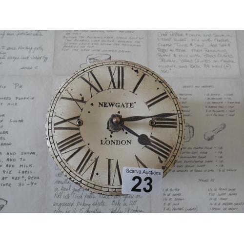 23 - NEWGATE LONDON WALL CLOCK...