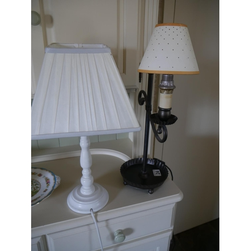24 - 2 TABLE LAMPS...