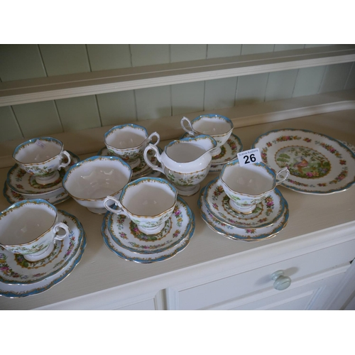 26 - ROYAL ALBERT CHELSEA BIRD TEASET...